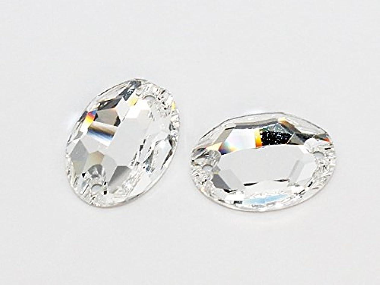 罰軽量スリッパ3210 ソーオン オーバル(楕円形) クリスタル 10×7mm 1粒 スワロフスキーソーオン/クリスタル