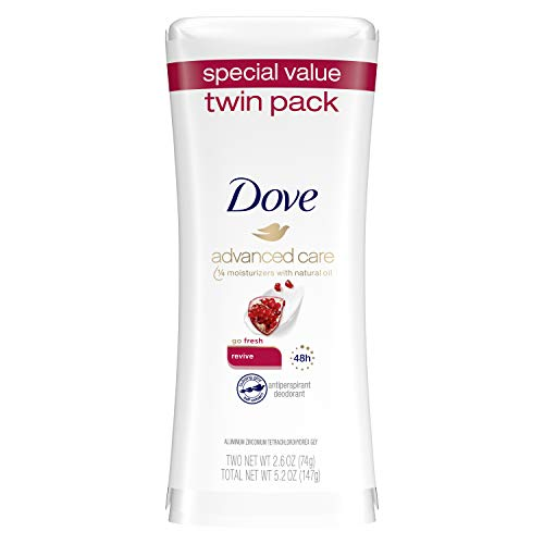 Dove Antiperspirant Deodorant Revive 2.6 oz, Twin Pack