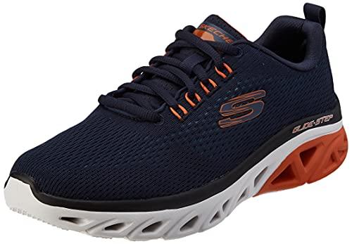 Skechers Herren Glide-Step Sport Wave Heat Sneaker, Navy, 41 EU