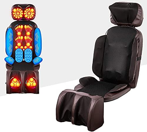 VONOYA Massaggiatore Schiena 55W Cuscino Massaggiante Vibrante con Impastamento Shiatsu per Spalle e Collo Massaggiatore Elettrico per Corpo con Funzione Calore con Massaggiatore Polpacci (16 Nodi)
