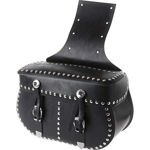 Stoverinck Motorrad Satteltaschen für Motorrad Taschen Ledersatteltaschenpaar Borchia 40 Liter schwarz, Unisex, Chopper/Cruiser, Ganzjährig