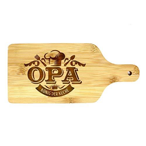 Küchenbrett 26,5x12x1cm - Holzschneidebrett - Bambusschneidebrett - Fleisch-, Käse- und Gemüseschneidebrett, robust und langlebig, einmaliges und sehr praktisches geschenk (OPA)