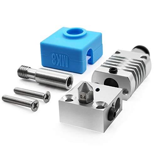 geneic 1 Set 3D-Drucker-Teile aus Metall, Hotend-Extruder-Kit für CR-10 CR-10S Ender 3/3S Drucker, Teil 1,75 Filament/0,4 mm Düse.