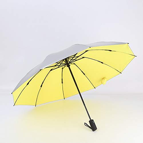 Paraguas Inverso De Plástico Negro, Paraguas Plegable Compl