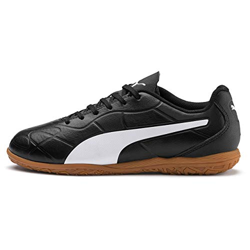 PUMA Monarch IT Jr, Zapatillas de Fútbol Unisex Adulto, Negro Black White, 38.5 EU