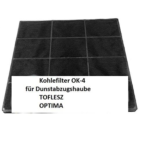Carbonfilter/Kohlefilter für Dunstabzugshaube TOFLESZ Ok-4/60/90 Elegant, Pryzma, Clasic, Etna, OPTIMA 6LASC, Cristal 6LASS - Dunstabzugshaubenzubehör