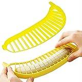 qwert Bananenherstellung Obstwurstkornschneidemaschine Bananenschneider Chopper Shredder Schneidemaschine Herstellung Bananenkuchen Dekoration Bananenschneiden Kunststoffwerkzeug