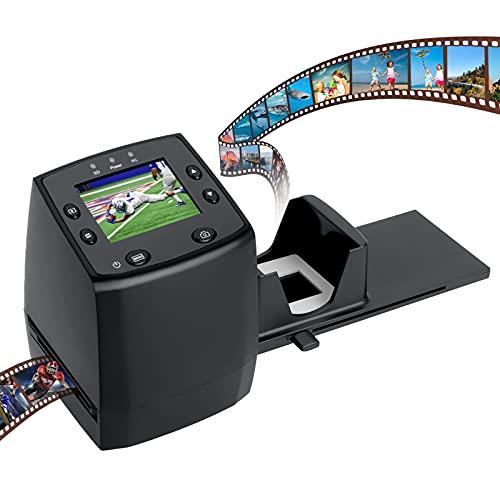 135 Film Scanner High Resolution Slide Viewer,Convert 35mm Film,Negative &Slide to Digital JPEG Save into SD Card, with Slide Mounts Feeder No Computer/Software Required