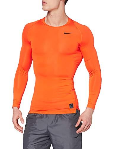 Nike Herren Pro Compression Unterhemden, Safety orange/Black, L