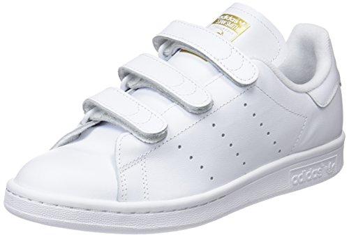adidas Herren Stan Smith Cf Tennisschuhe, Weiß (Ftwr White/Ftwr White/Gold Met.), 43 1/3 EU