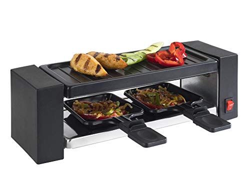 Korona 45080 Raclette Grill Mini | 2 Personen | 400 Watt | Inkl. Pfännchen und Spatel