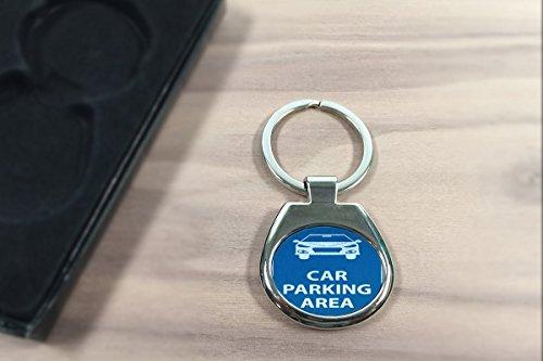 Schlüsselanhänger Oldtimer Auto Parkplatz bedruckt - 2