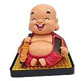 CUTICATE Buddha Solar Wackel Figur Solarfigur Geschenk Spielzeug für Huas, Auto, Büro,...