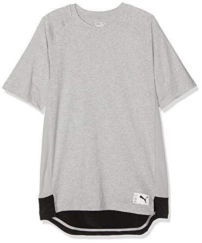 PUMA Herren ftblNXT Casuals Graphic Tee T Shirt, Light Gray Heather-Charcoal Gray, S