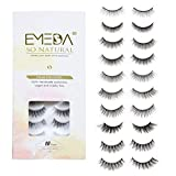 10 Styles Faux Mink Lashes Mix 10 Pairs False Eyelashes Natural Look 3D Small Face Eyelashes Short Soft Fake Lashes 100% Handmade Lashes Wispies Reusable Eye Lash 1 Pack by EMEDA