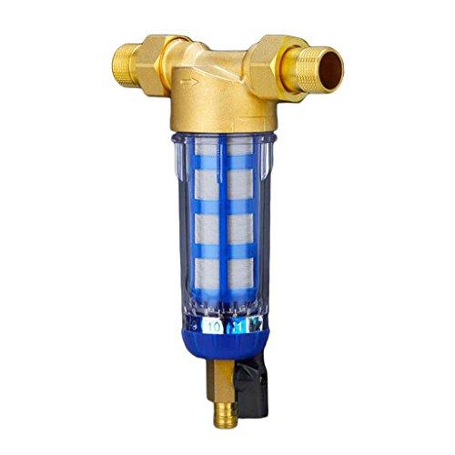SM SunniMix Sistema di Pre-filtraggio dell'Acqua per Tutta La Casa. Filtro per L'acqua del Serbatoio. Porta in Ottone da 3/4 ''1/2'' - Come Immagine mostrata, 0.75inch