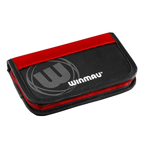 WINMAU Super Dart Case 2, Slimline, für 2 Darts-Sets, 8 Fächer, rot