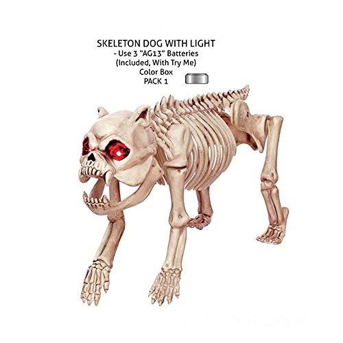 Decoración para el hogar Cráneo Perro Esqueleto de animal Características ornamentos decorativos horror Puntales casa encantada de decoraciones de Halloween Esqueleto de animal 48cm * 15cm * 30cm ador