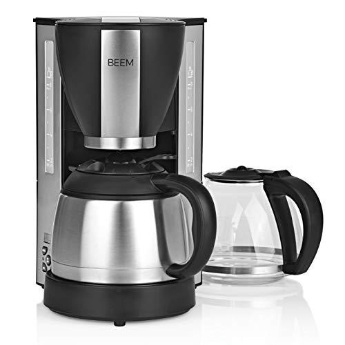 BEEM FRESH-AROMA-SELECT Filterkaffeemaschine - Duo | Glaskanne und Isolierkanne | Warmhaltefunktion | 8 Tassen | Permanentfilter