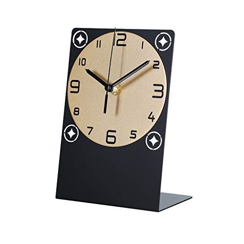 Elegante Reloj de Mesa Tabla de geometría cuadrada reloj de reloj de reloj personalidad creativa casa mesa reloj dormitorio sala de estar decoración de escritorio decoración muda mesa reloj Reloj de E