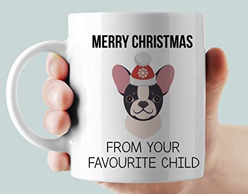 Custom Frenchie Mug, Merry Christmas Frenchie Mug,Christmas Gift Mug 11 Oz
