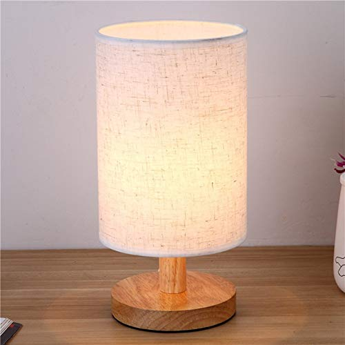 Lámpara de mesa LED de madera nórdica, para dormitorio, mesita de noche, lámpara de lectura, para sala de estar, estudio, para decoración de interiores (pantalla de color: F).