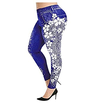 Aniywn Womens Lace Leggings Skinny Pencil Jeans Ankle Length Leggings Tights Yoga Slim Long Pants Purple