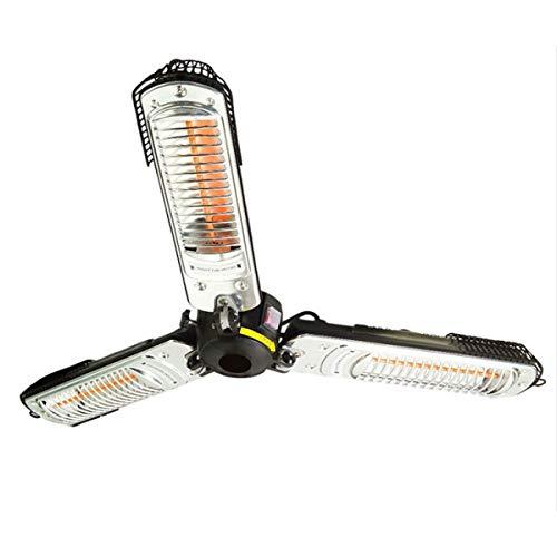 Schallen Halogen Garden Parasol Umbrella Heating Outdoor Patio Heater Electric Infrared Space Heater With 3 Heating Panels