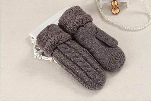 Women Winter Gloves,Moda Marrón De Punto Twist Guantes De Dedo Completo Guantes...