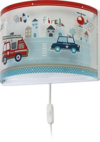 Dalber kinder Wandlampe Autos Police, Kunststoff, 60 W, bunt