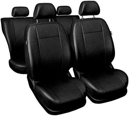 Carpendo Sitzbezüge Auto Set Autositzbezüge Schonbezüge Schwarz Vordersitze und Rücksitze mit Airbag System - Comfort