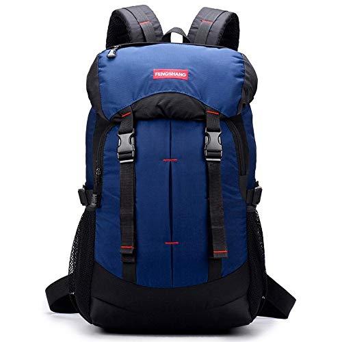 Sac à Dos étanche, Sac de Voyage Unisexe en Nylon de Grande capacité pour Le Sac à Dos de randonnée, Nylon, Noir, Bleu, Violet (Color : Blue)