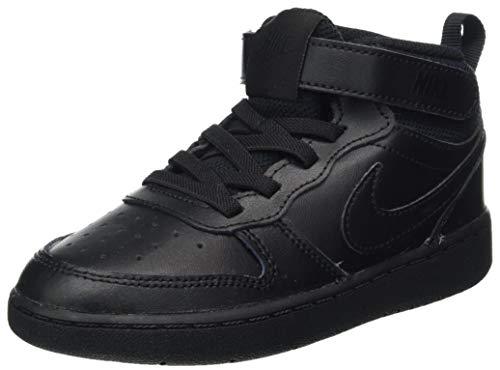 Nike Jungen Unisex Kinder Court Borough Mid 2 (TDV) Sneaker, Black/Black-Black, 23.5 EU