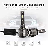 Auxbeam Led Headlight Bulbs F-T1 Series H1 Led Headlight Bulbs 70W 8000lm 6000K Pure White LED Chips Conversion Kits Single Beam with Temperature Control