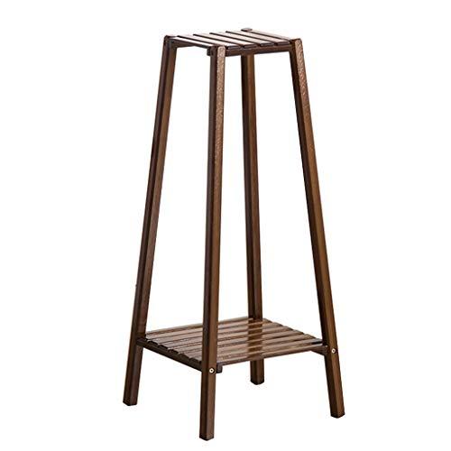 JIA JIA HOME-Intérieur/extérieur Étagères 2/3/4 étages Bamboo Flower Rack, intérieur/extérieur jardin escalier plante Pots présentoir support stockage coin étagère pour salon/bureau/balcon, brun