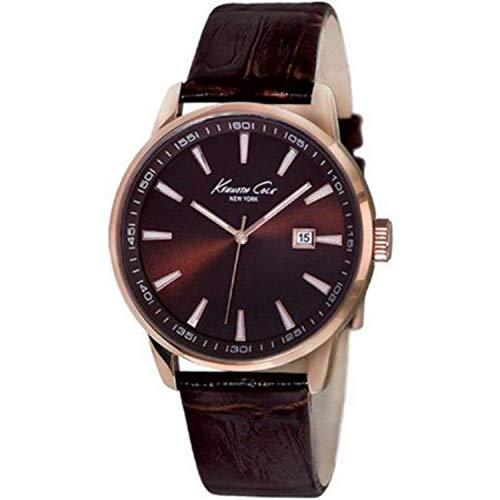 Kenneth Cole Reloj Analógico para Hombres de Cuarzo con Correa en Cuero 10011827