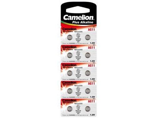 Camelion Alkaline Knopfzellen, AG11 / LR721 / SB-AK / 362 / V362 / SR721SW / 280-29, 1.5V - 10 Stück