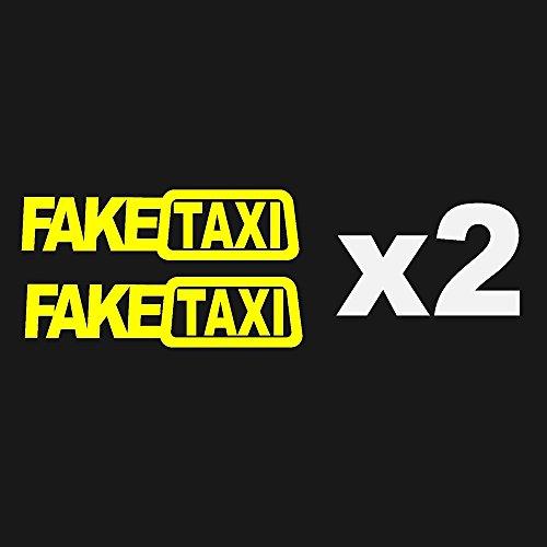 ONEVER Autocollant de voiture Drift Turbo Hoon voiture de course FAKE TAXI drôle 2PCS autocollant (2pcs)