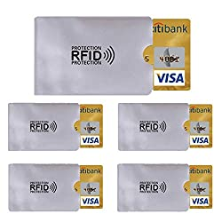 5X RFID protective blocker NFC data protection shielding EC card credit card