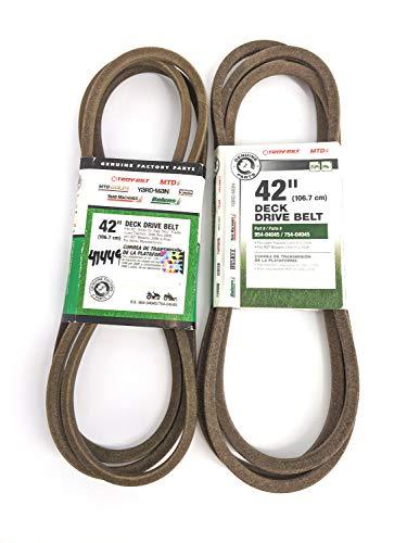 """MTD Genuine Parts 490-501-M019 42"""" Deck Drive Belts -  Troy-Bilt"""