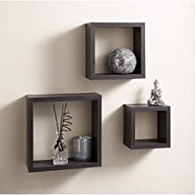 3 Cubic Wall Shelves - Brown