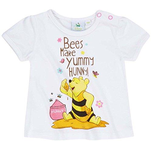 Tee shirt bébé fille manches courtes Winnie l'ourson Blanc de 3 à 24mois (12 mois)