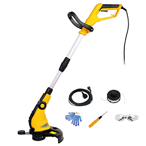Why Should You Buy QINXUESHOP Electric Grass Trimmer Adjustable Handle Telescopic Cutting Width 30cm...