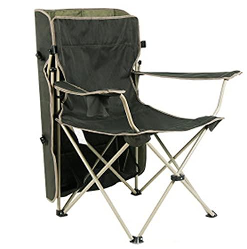 HFAFRZ Silla Camping Plegable con Sombrilla, Silla De Playa Plegable con Soporte para Bebidas Y Bolsa De Transporte Soporte 120 Kg