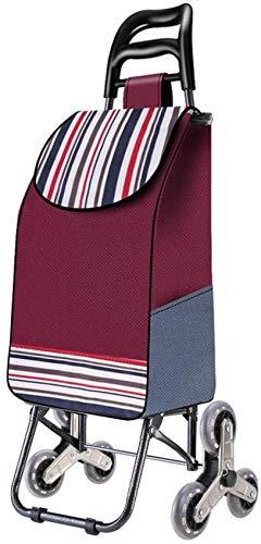 N/Z Home Equipment Tragbarer 3-Rad-Klapp-Einkaufswagen Leichter Treppensteigwagen mit Abnehmbarer wasserdichter Tasche für Wäscherei, Lebensmittel und Markt (Farbe: Blau)