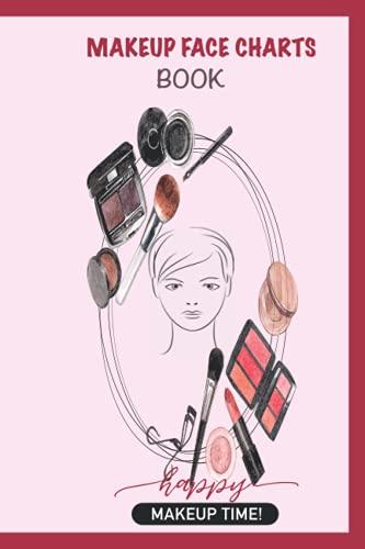 Makeup Charts Book: Blank Makeup Face Chart Worksheets.
