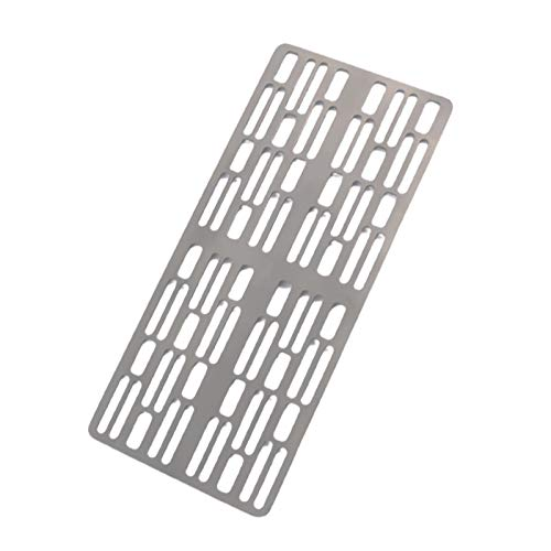 LINASHI Grill, BBQ Board, Titanium Barbecue Ultralight Outdoor Camping BBQ Plate for Gas Charcoal Grill