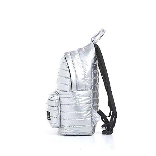 Mueslii Mini Due Daunen-Rucksack, mittelgroß, gepolstert, leicht und geräumig, silber (Silber) - MiDue_9