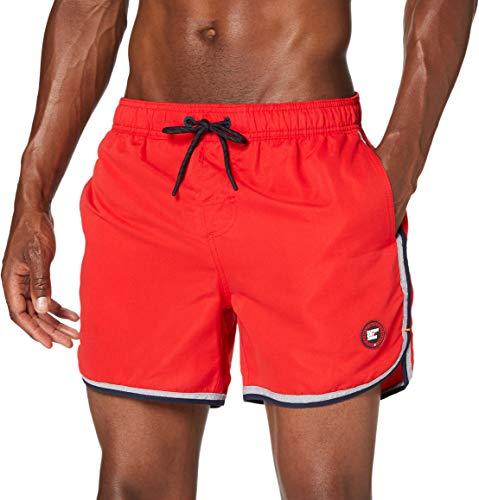 Superdry Echo Surf Racer Swim Short Pantalones Cortos, Rojo (Flag Red Oxl),...