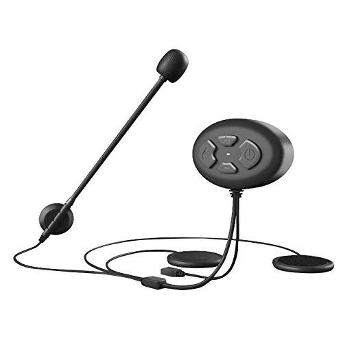 Camisin 5.0 - Auriculares de casco para motocicleta, reproductor de música, manos libres, llamadas telefónicas para casco